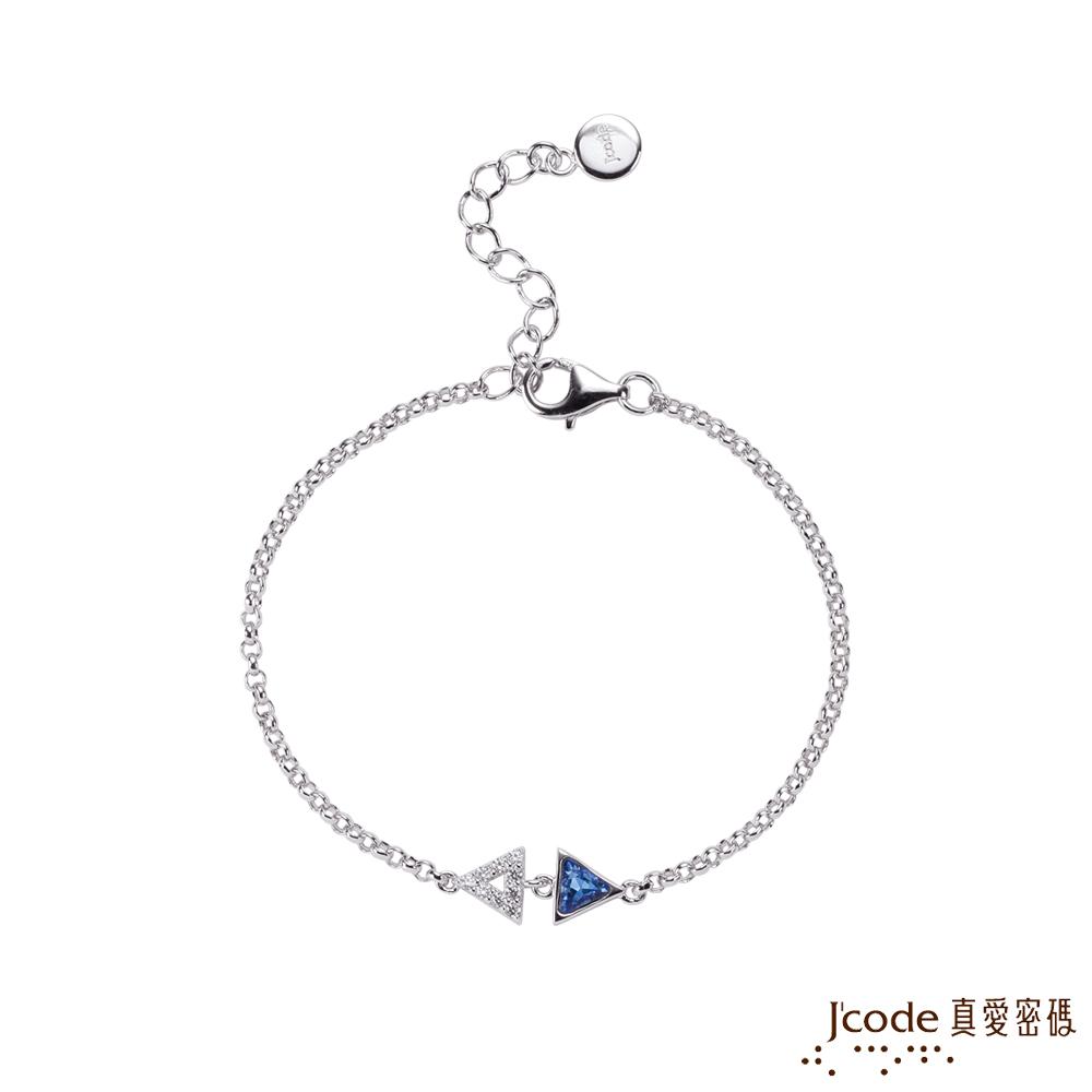 J'code真愛密碼銀飾 獨立純銀手鍊