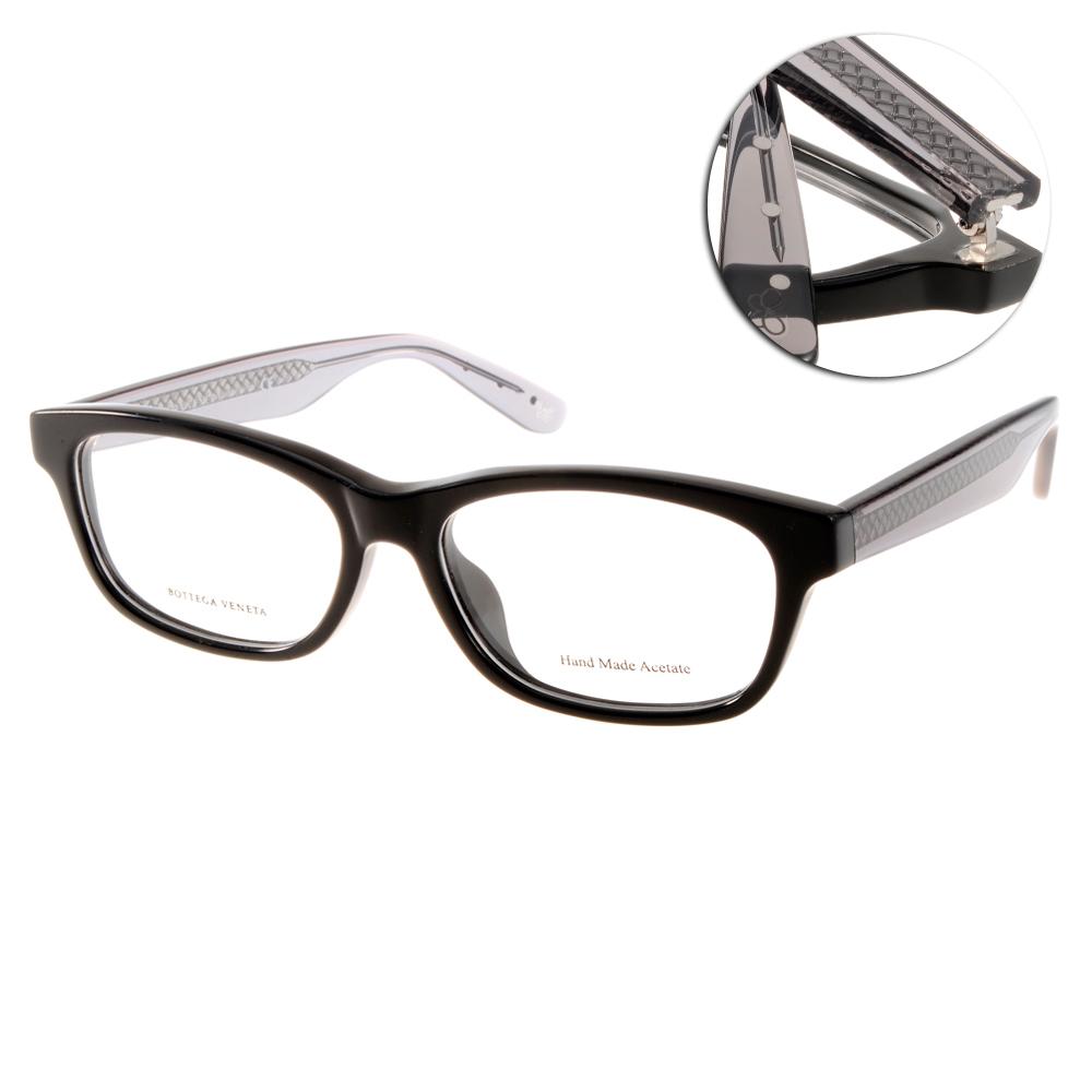BOTTEGA VENETA眼鏡 完美品味/黑-編織透灰#BV6030F ATN