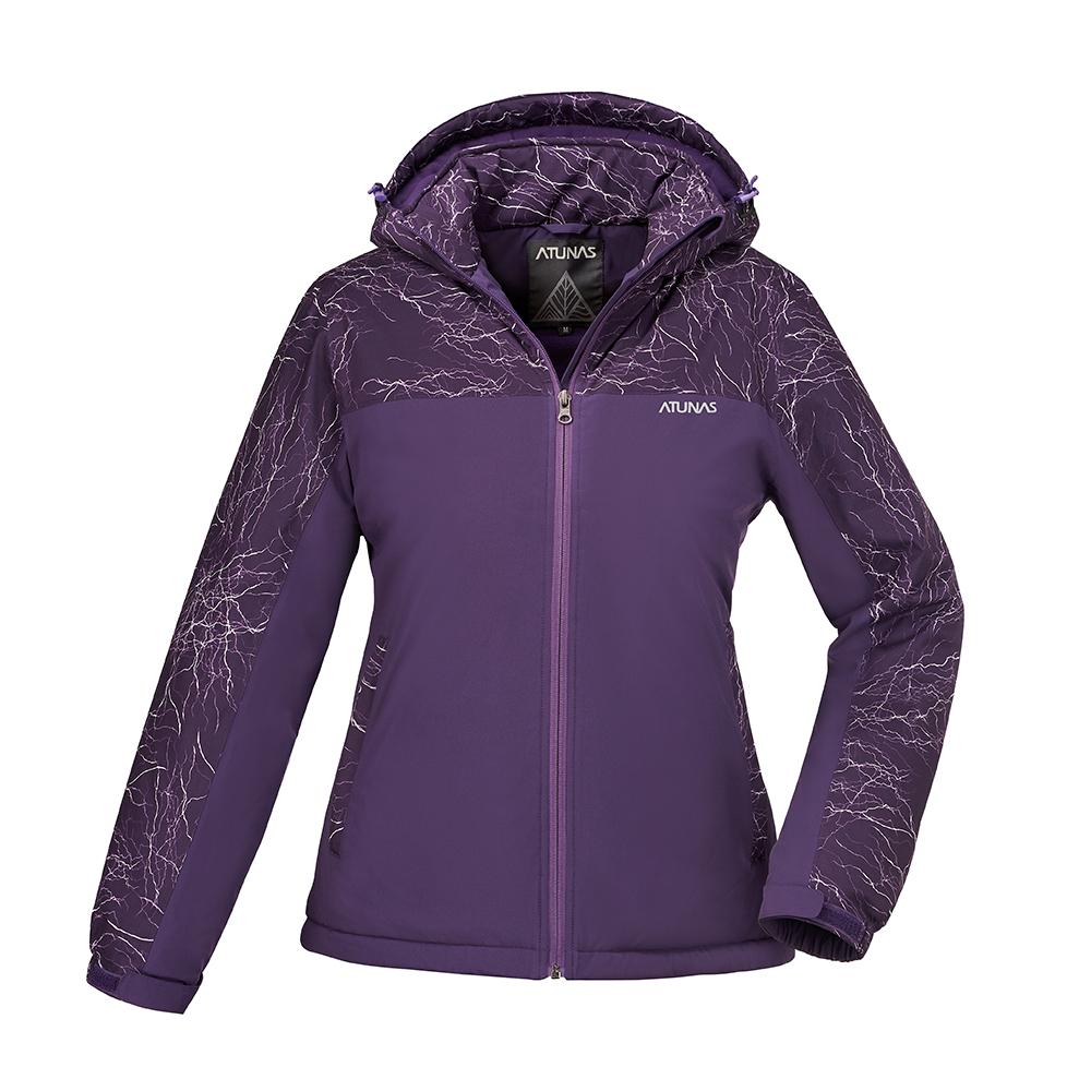 【ATUNAS 歐都納】女款防水透氣/輕量蓄熱保暖防風外套A-G1745W藍紫