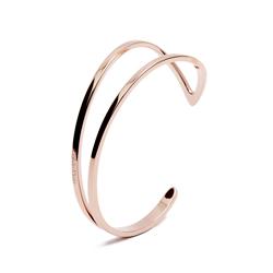 CK Calvin Klein 翩然起舞在手腕間的手環-玫瑰金色