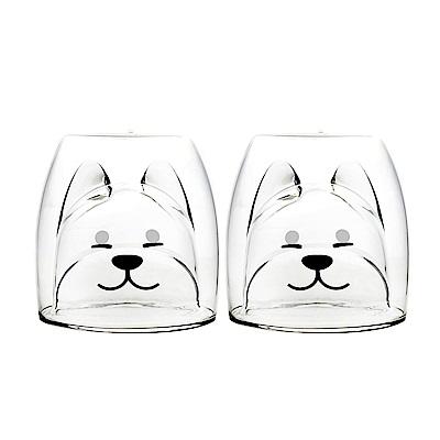 FUSHIMA 2018年度限定-雙層耐熱玻璃杯旺福款200ML*2入