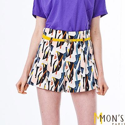 MONS 時尚印花造型短褲