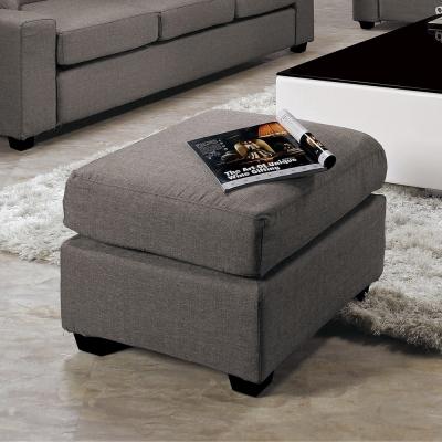 Bernice-布拉格灰色布腳椅