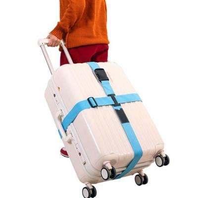 旅遊首選旅行用品行李箱十字緊扣行李保護束帶打包帶綑綁帶