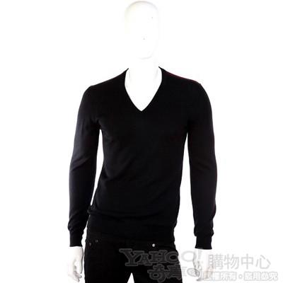 GUCCI V領針織長袖上衣(黑色)