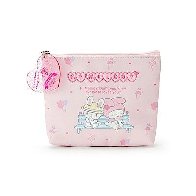 Sanrio 美樂蒂草莓遊園地系列PU皮革面紙化妝包