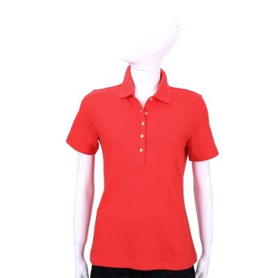 TORY BURCH 紅色釦式短袖POLO衫