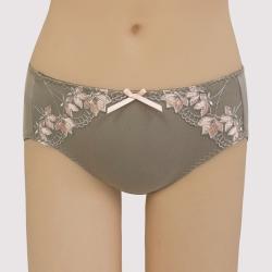 曼黛瑪璉 包覆提托經典   低腰寬邊三角萊克內褲(北非棕)