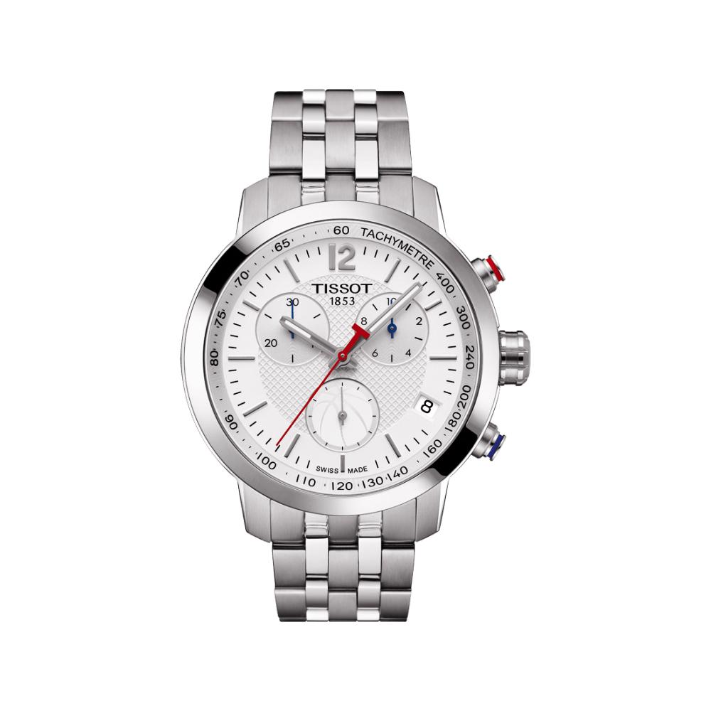 TISSOT T-Sport PRC200 NBA特別版計時腕錶-銀/42mm