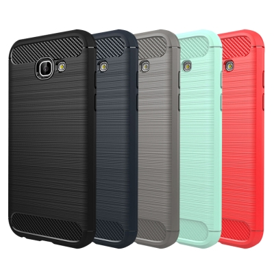QinD SAMSUNG Galaxy A7(2017) 拉絲矽膠套
