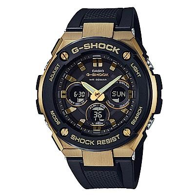 G-SHOCK創新突破分層防護完美悍將休閒錶(GST-S300G-1A9)金框49.3mm