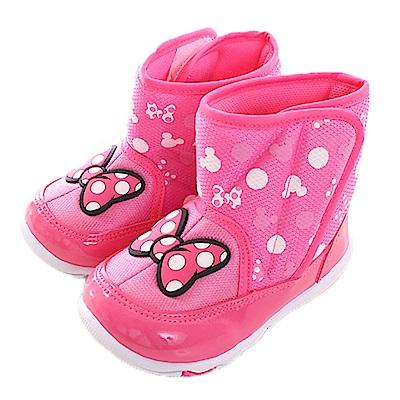 迪士尼米妮輕量魔鬼貼短靴 桃 sh0009 魔法Baby