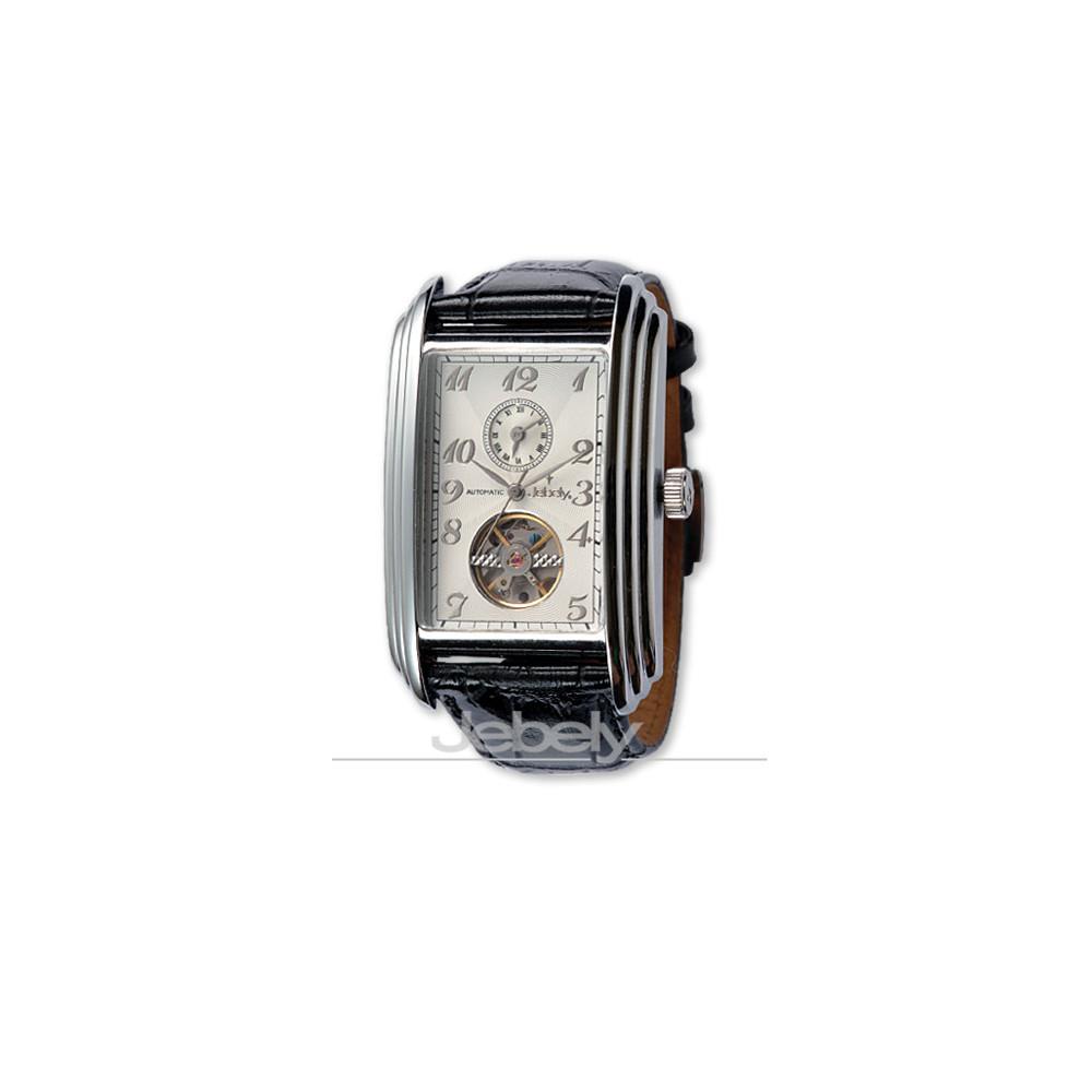 Jebely 日內瓦公約系列雙時區小鏤空機械錶-時尚白/34mm