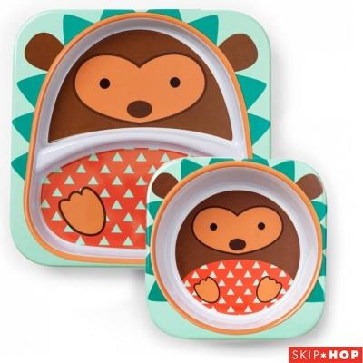 Skip Hop 小刺蝟款動物兒童餐具組合