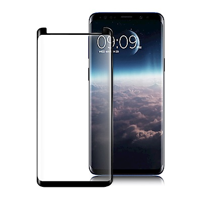 Oweida for 三星 Galaxy S9 3D全滿版鋼化玻璃保護貼-黑色-...