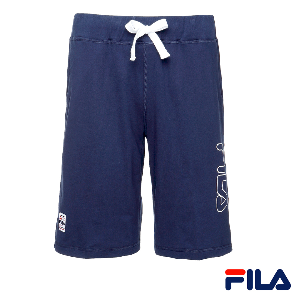 FILA 男款針織短褲-丈青1SHR-1412-NV