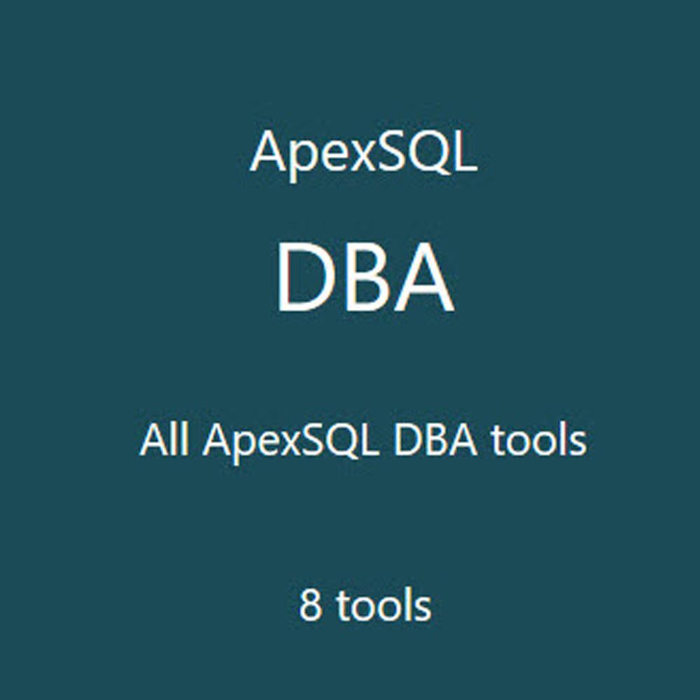 ApexSQL DBA (資料庫開發工具) 單機版 (下載版)
