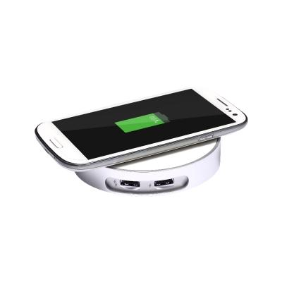 CHANNEL WELL 桌上型雙USB有線/無線充電器-(Iphone8專用)