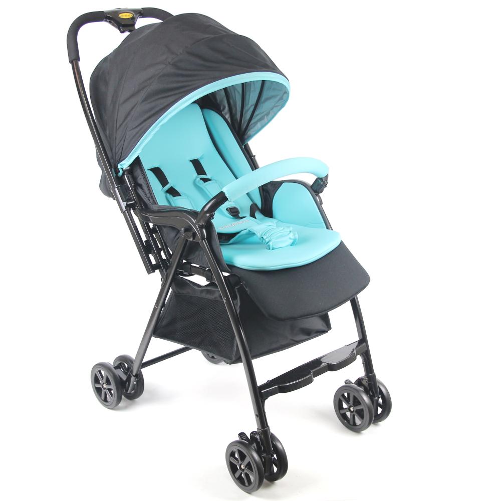 Babybabe 新款加寬超輕量雙向秒收車-湖水藍