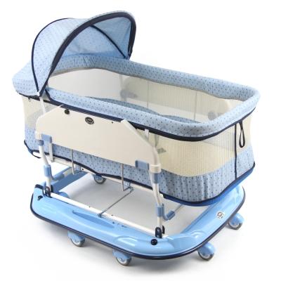 YSF 寶寶樂水平睡箱搖床(加大加高款) 天空藍
