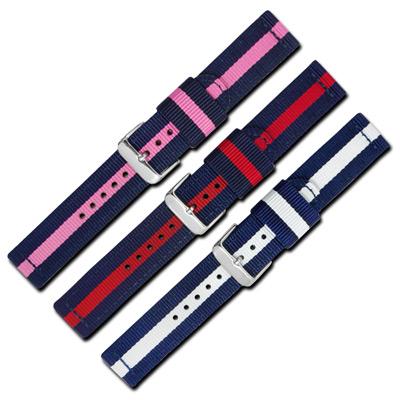 Watchband /各品牌通用休閒尼龍帆布錶帶-三色任選