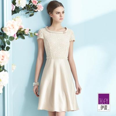 ILEY伊蕾-棉質優雅翻領蓋袖洋裝