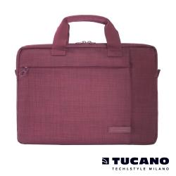 TUCANO SVOLTA 11-12吋都會風尚手提側背包- 酒紅