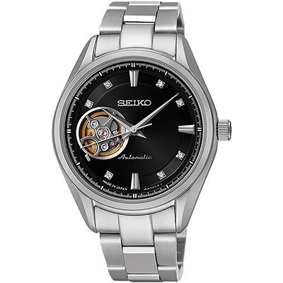 SEIKO Presage 4R38 開心系列機械腕錶(SSA869J1)-黑/34mm