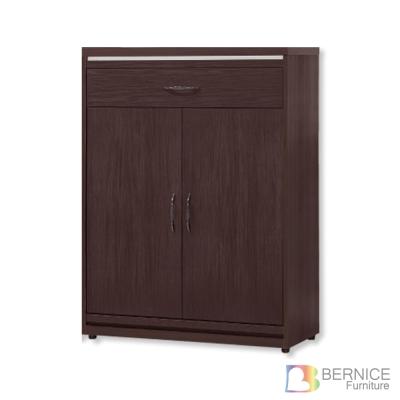 Bernice-黑雨2.7尺二門一抽鞋櫃-83x40x114cm