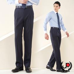 極品西服-雅致品味直條毛料雙褶西褲_深藍(BS602-2)