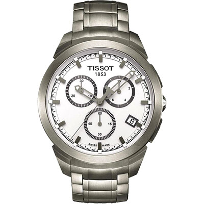 TISSOT Titanium 鈦風尚計時腕錶-白/43mm T0694174403100