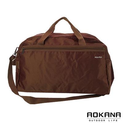 AOKANA奧卡納 MIT台灣製造 輕量防潑水小型旅行袋(咖啡)03-008