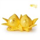 【Magic魔法金】福壽仙桃( 1.0錢) 立體黃金