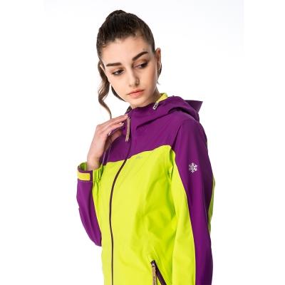 【hilltop山頂鳥】女款GORE-TEX3L防水防風透氣外套H22FS1綠/紫