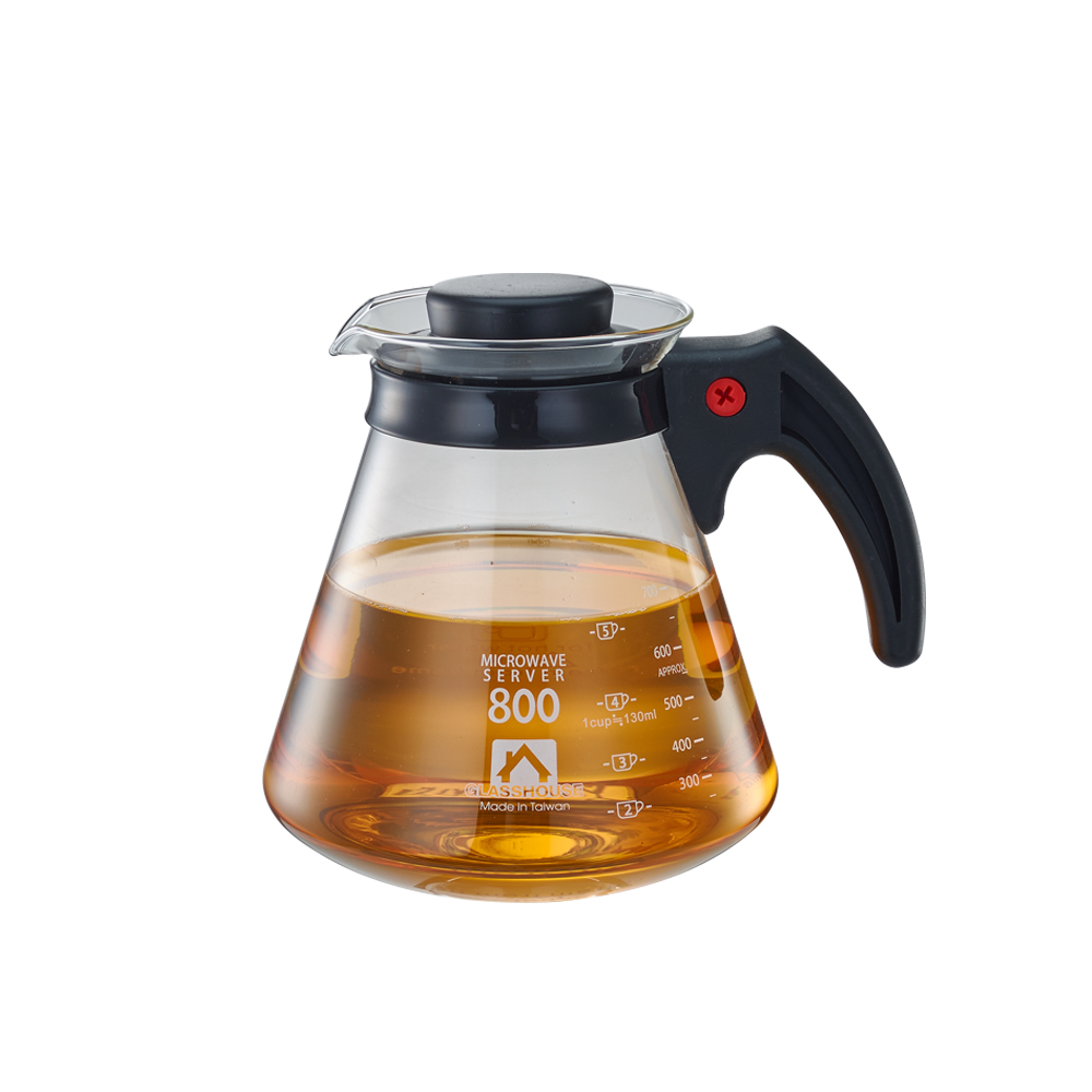 Glasshouse 台製耐熱玻璃壺/咖啡壺/花草茶壺800ml(C800)