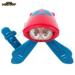 英國MINI HORNIT蜜蜂燈鈴鐺-自行車/滑板車嬰兒推車用LED車前燈+電子喇叭-紅藍