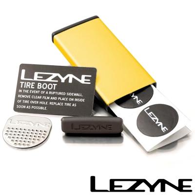 LEZYNE METAL KIT彩色鋁盒補胎片組 (金)