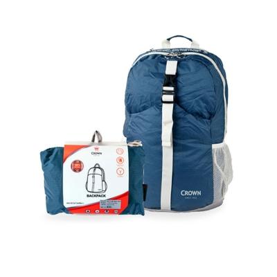 CROWN-皇冠-可折疊式後背包-藍色
