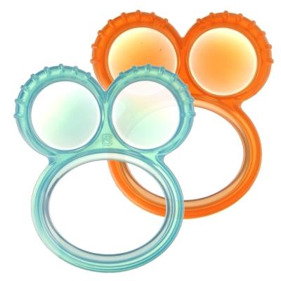 【貝喜力克】嬰兒固齒玩具(雙圓)-2入