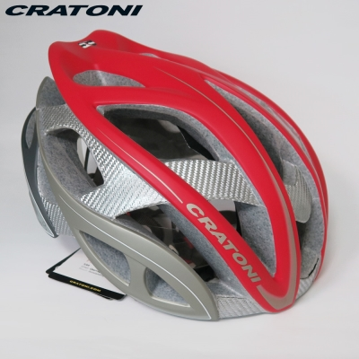 CRATONI 德國專業品牌 TERRON 公路車用安全帽/碳纖維支架-紅