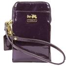 COACH MADISON 馬車漆皮亮面直式萬用袋(紫)