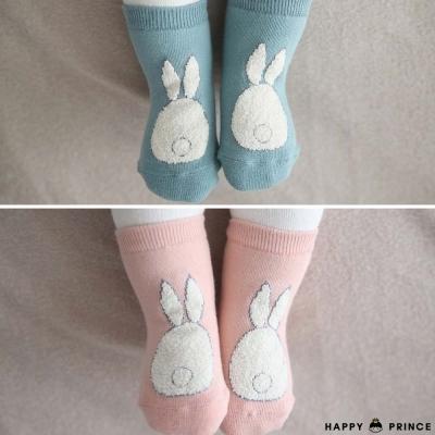 韓國 Happy Prince 小兔尾巴造型嬰兒襪