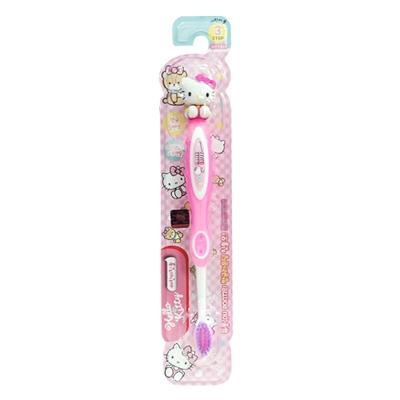 韓國英佑Atex Hello Kitty卡通兒童立體牙刷第3階段(6-12歲)-紅