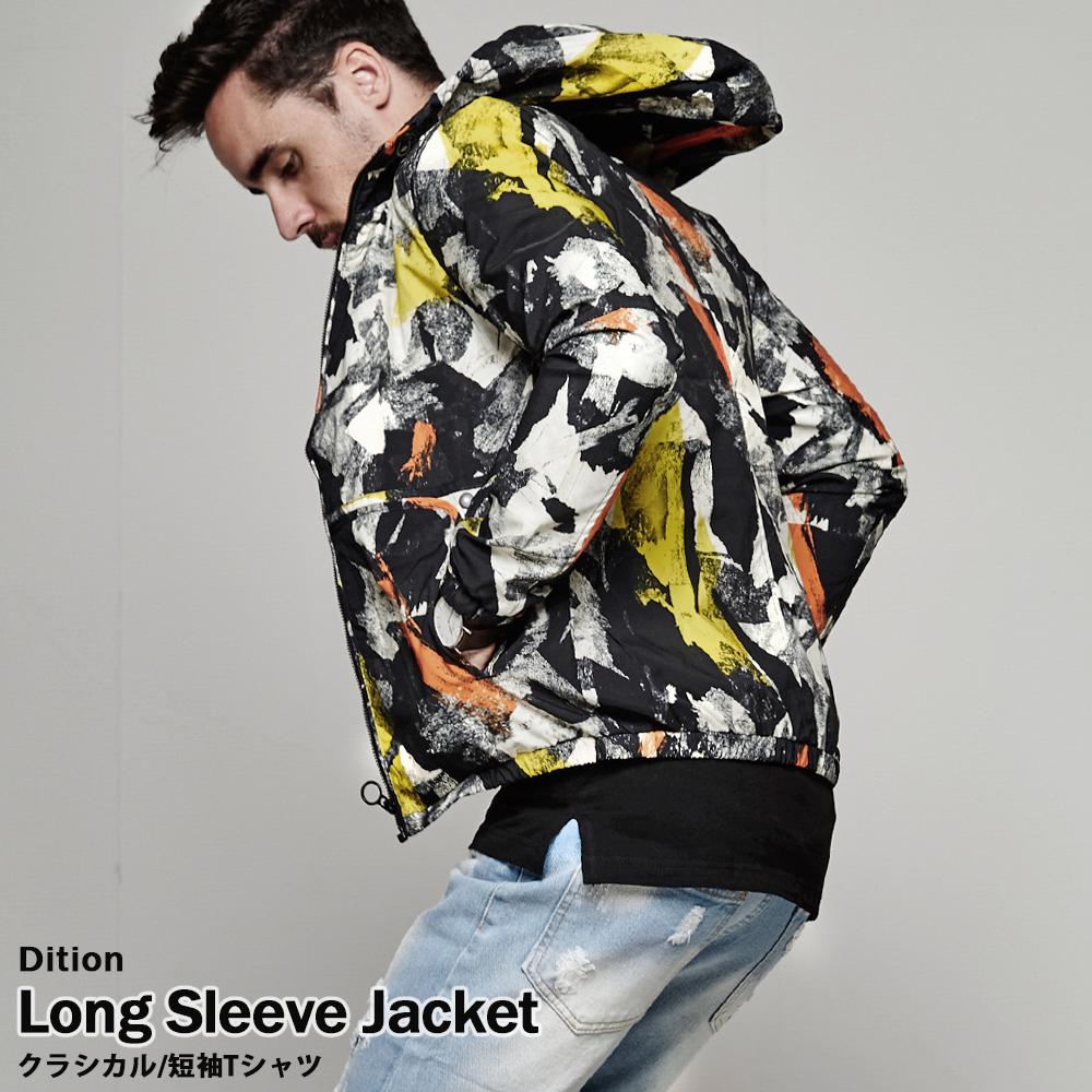 DITION 暈染油彩連帽外套 防撥水夾克 ZIP JACKET夾克