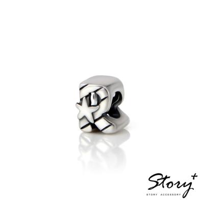 STORY故事銀飾-串珠墜飾-字母珠 R