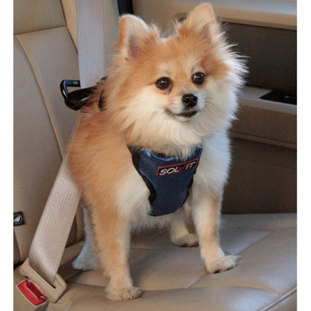 美國SOLVIT寵物介護 升級款豪華寵物車載安全帶S號