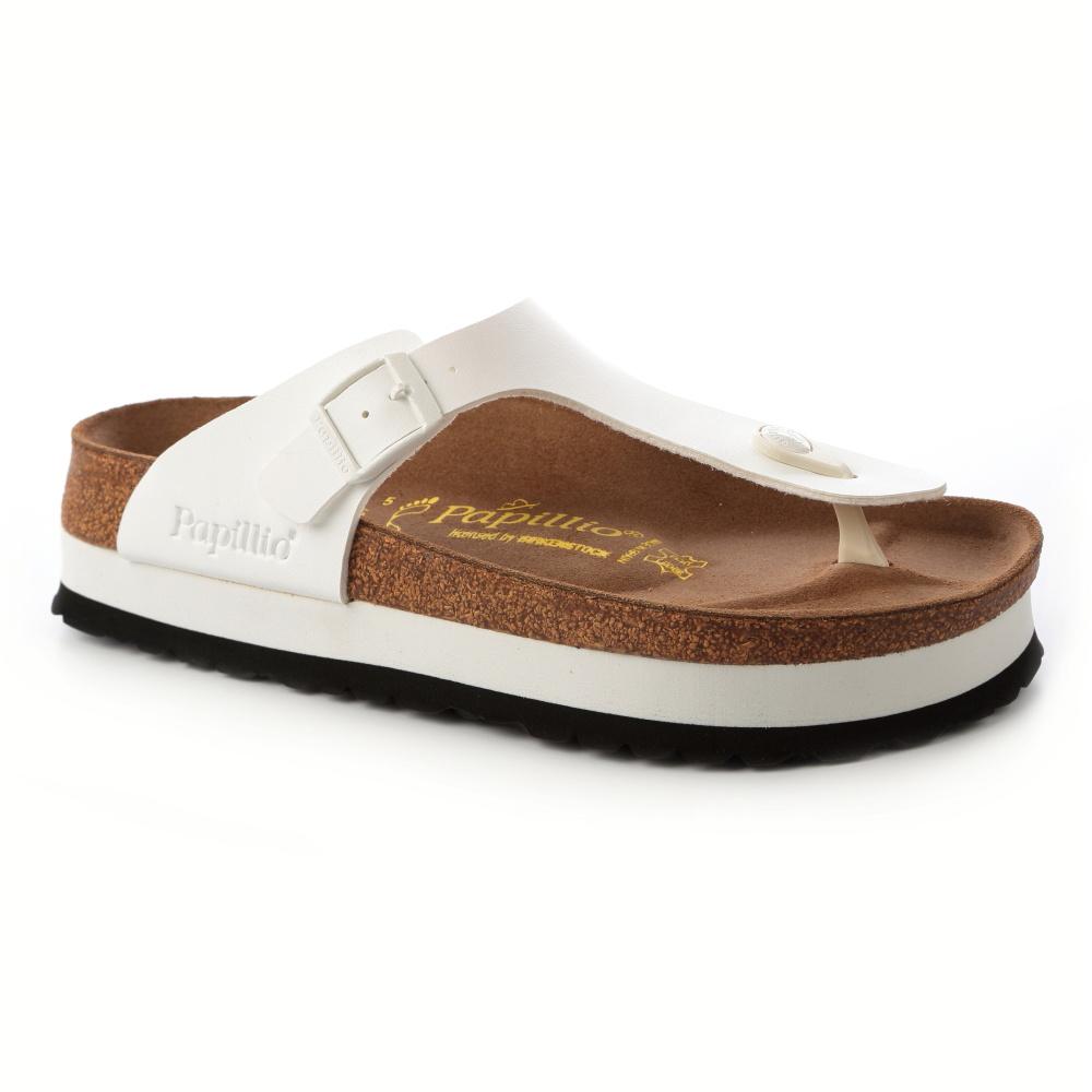 勃肯Papillio 304771。GIZEH吉薩 夾腳拖鞋(白)