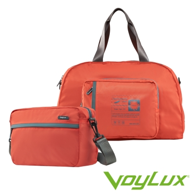 Voylux伯勒仕-百貨專櫃-魔術收摺系列-兩用摺疊側背包 / 旅行袋-橘色
