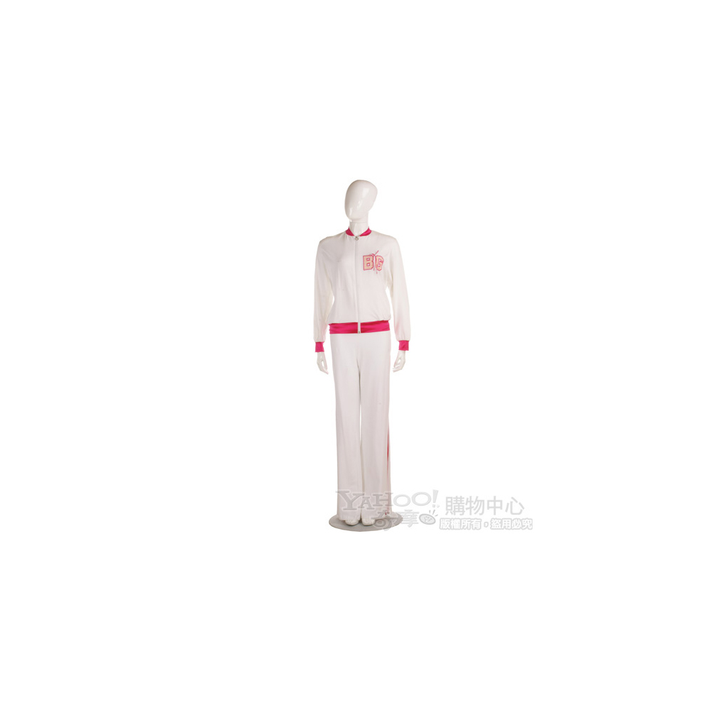 Blugirl 白/桃紅色休閒長褲