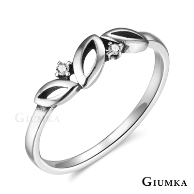 GIUMKA 925純銀戒指尾戒 幸運小葉女戒